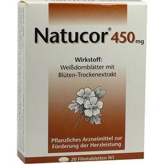 NATUCOR 450 mg Filmtabletten:   Packungsinhalt: 20 St Filmtabletten PZN: 06474377 Hersteller: Rodisma-Med Pharma GmbH Preis: 4,46 EUR…