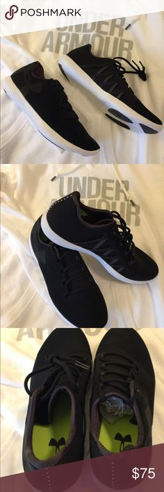 Under Armour tennis shoes All black with white sole, brand new without the box. These shoes are very comfortable and light weighted Under Armour Shoes Athletic Shoes