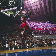 Chicago Bulls Michael Jordan (23) in action during All Star Weekend at Seattle Center Coliseum.  Walter Iooss Jr.  X34345 )