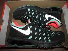 Nike Fingertrap Max NRG Mens Training Shoes 12 Black Green Glow 3M 644672 003 #Nike #RunningCrossTraining