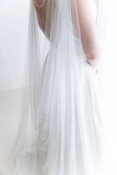 Wedding cape - Bridal cape veil - Shoulder veil - Bridal cape - Bridal back necklace - Back jewelry - Cape veil wedding. This veil has amazing drape, it is just perfect. Wedding Dress With Veil, Wedding Veils, Ivory Wedding, Wedding Ceremony, Autumn Bride, Autumn Wedding, Spring Wedding, Bridal Outfits, Bridal Dresses