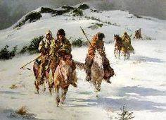 Howard Terpning - When Trails Turn Cold - Search Gallery One for ART limited edition prints, giclee canvases and original paintings by internationally-known artists Howard Terpning, Eskimo, Plains Indians, Poster Prints, Art Prints, Posters, Le Far West, Native Indian, Indian Paintings