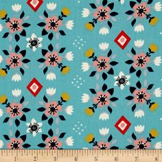 Birch Organic Wildland Flowerbed Blue from @fabricdotcom  Designed by Miriam Bos for Birch Organic Fabrics, this GOTS certified organic cotton print fabric is perfect for quilting, apparel, and home decor accents. Colors include blue, navy, grey, off-white, gold, pink and red.