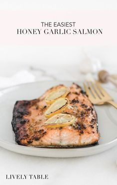 quick and easy 3 ingredient Honey Garlic Salmon is a healthy and delicious salmon recipe that will turn anybody into a salmon lover! It's a great weeknight dinner option. Delicious Salmon Recipes, Fish Recipes, Seafood Recipes, Whole Food Recipes, Healthy Recipes, Dinner Recipes, Family Recipes, Healthy Kids, Healthy Living