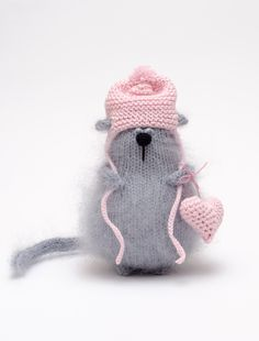 Little knitted cat... Warm cat
