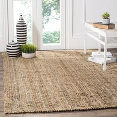Safavieh Casual Natural Fiber Hand-Woven Natural Accents Chunky Thick Jute Rug (9' x 12') | Overstock.com Shopping - The Best Deals on 7x9 - 10x14 Rugs