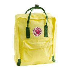 I need a good backpack when I ride my bike to work.  This Fjallraven Classic Kanken Backpack in Bright Lemon will do the trick.