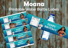 Moana water bottle labels, Moana Printable water bottle labels