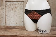 JADE — #bias-cut silk panties  These are just the comfiest and most luxurious silken underthings you could ever slip on your glorious behind! They're made of delicate and pu... #etsy #handmade #lingerie #boudoir #intimates #stripes #red #gold #geometric #black #burlesque #steampunk