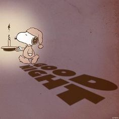 Good night, Snoopy.