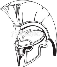 Illustration of Spartan roman greek trojan or gladiator helmet Royalty Free Stock Vector Art Illustration