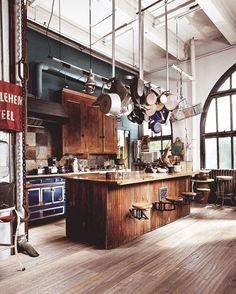 Kitchen envy. #loft #interiors #rustic