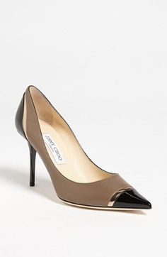 Jimmy Choo 'Lilo' Cap Toe Pump available at #Nordstrom