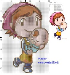 Detail facric and very visual appealing baby related patterns to download for free