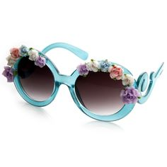 Oversize Baroque Swirl Arm Flower Floral Sunglasses 8852- really want!!! ($15)