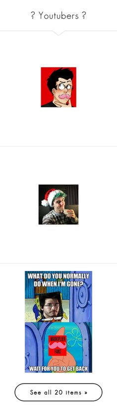 """""""☯ Youtubers ☯"""" by neon-ligxts ❤ liked on Polyvore featuring youtubers, markiplier, misc, people, pictures, dan and phil, dan, danisnotonfire, guys and jeydon wale"""