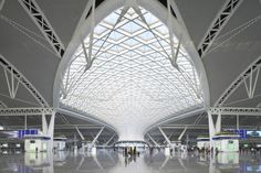Guangzhou South Railway Station by TFP Farrells.  Guangzhou, China.  http://www.archdaily.com/267849/guangzhou-south-railway-station-tfp-farrells/?utm_source=ArchDaily+List_campaign=dc8856f1bd-RSS_EMAIL_CAMPAIGN_medium=email