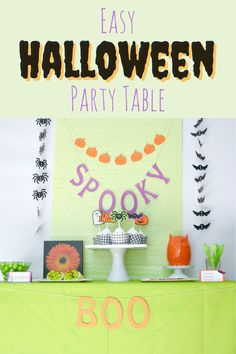 Today on the blog, we show you how to put together this Halloween party table in less than 15 minutes!
