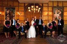 bridal party pose