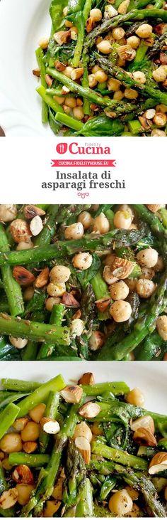 Insalata di asparagi freschi Vegetarian Recipes Dairy Free, Raw Food Recipes, Vegetable Recipes, Meat Recipes, Italian Recipes, Cooking Recipes, Healthy Recipes, Clean Eating, Healthy Eating