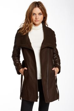Truth Of Touch Leather Mercer Coat by Truth Of Touch on @HauteLook