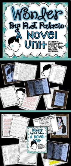 The novel, Wonder by R.J. Palacio is perfect for teaching kindness. This product has everything you need to help you teach your students with the novel, Wonder. It includes over 100 pages of comprehension passages, writing prompts, word searches, foldab