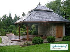 Łupek dachowy, łupek kamienny, łupek naturalny, dach z łupka Gazebo, Outdoor Structures, Kiosk, Pavilion, Cabana