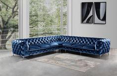 Huge variety in modern furniture, contemporary and Italian furniture like platform bed, leather sofa, sectional sofas and bedroom furniture for home Living Room Furniture Uk, Corner Sofa Living Room, Couch Furniture, Luxury Furniture, Furniture Design, Blue Sectional, Fabric Sectional, Leather Sectional, Chesterfield Corner Sofa