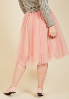 It's Never Tulle Late A-Line Skirt. Looking for the right moment to embrace your feminine tendencies through fashion? #pink #modcloth
