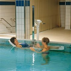 Hydrotherapy Pool Hoist Stretcher supplied and installed by Dolphin Lifts in the UK. Call 01276 856060 for more details.