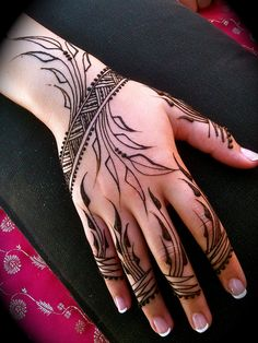 beautiful nature henna design