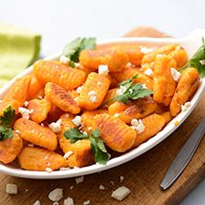 Sweet Potato Gnocchi - This gnocchi recipe takes four pantry staples and turns them into a whole new dish.