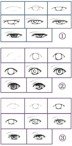 How to draw eyes - number 2 is the one I need