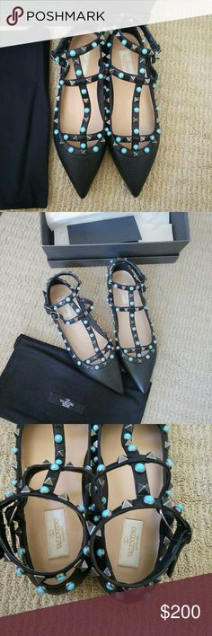 New 38 Valentino *INSPIRED Flats Sandals INSPIRED! Great quality. You will not be able to tell! Bought for $400 but a little tight for me. Looking to sell fast and buy a size up. Shoes