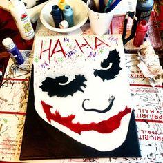 Joker Heath Ledger The Dark Knight Batman DC Comics Painting Art Paint - Batman Poster - Trending Batman Poster. - Joker Heath Ledger The Dark Knight Batman DC by BlackHoodieArt Easy Canvas Painting, Acrylic Painting Canvas, Canvas Art, Painting Art, Canvas Ideas, Canvas Paintings, Joker Drawing Easy, Joker Drawings, Joker Art