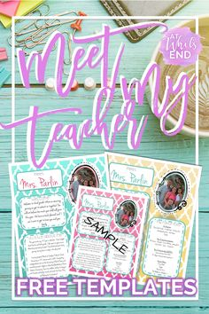 Meet the Teacher letter! A customizable freebie to introduce yourself to your students. Back to school freebie!