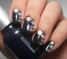The Clockwise Nail Polish: Dermacelsia 87 & BPS Rhinestones Wheel Review