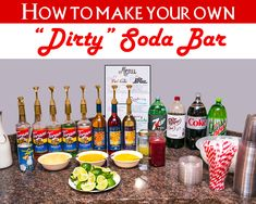 Make Your Own dirty soda bar with FREE PRINTABLE RECIPES!