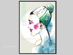 Illustration  abstract fashion watercolour female by motscherbelle