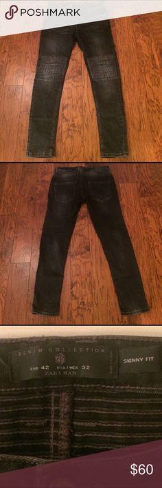 ZARA MAN- Blk Biker Jeans- Denim Collection. ZARA MAN- Blk Biker Jeans- Denim Collection. EUR 42/US 32 - Skinny Fit Zara Jeans Skinny