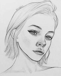The Secrets Of Drawing Realistic Pencil Portraits - . Secrets Of Drawing Realistic Pencil Portraits - Discover The Secrets Of Drawing Realistic Pencil Portraits Pencil Art Drawings, Drawing Faces, Cute Drawings, Drawing Sketches, Portrait Sketches, Drawing Ideas, Sketching, Drawing Lips, Horse Drawings