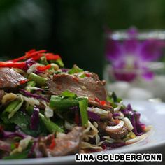 Lap Khmer, lime-marinated Khmer beef salad