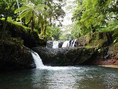 The Togitogiga Falls and pools.