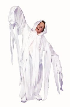 """This spooky ghost costume is perfect for Halloween. The classic """"sheets"""" look makes it whimsical and childlike with a vintage feel that's sure to add to the Halloween magic. Ghost Costume Kids, Best Kids Costumes, Ghost Costumes, Holiday Costumes, Costumes For Teens, Dress Up Costumes, Cosplay Costumes, Costume Ideas, Costumes 2015"""