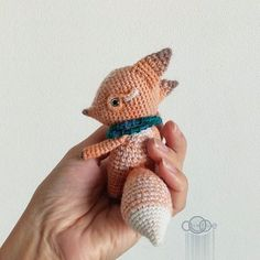 @viktoria_sevostyanova | greyeyes fox Kawaii Crochet, Crochet Fox, Cute Crochet, Crochet Animals, Beautiful Crochet, Crochet Dolls, Crochet Yarn, Yarn Over, Soft Dolls