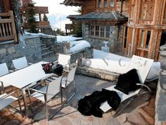 Eric Arnoux Geneve presents Chalet Carat, a beautiful property located in the peaceful area of Megeve, France. Spoil yourself in this luxurious place by taking advantage of the latest technologies in comfort and home design. Find more about Eric Arnoux Geneve and the luxurious properties on EricArnoux.net Outdoor Furniture, Outdoor Decor, Sun Lounger, House Design, Patio, France, Vacation, Luxury, Places