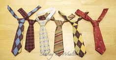 diy ties for boys. Need to make these - my son wants to wear a tie to daycare every day!  Too cute!