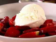 Get Strawberries with Balsamic Vinegar Recipe from Food Network