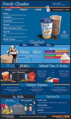 Dutch Bros® secret menu is full of goodies. Yes, you read that right. Probably the best tasting coffee drinks on the planet and the coolest drive-thru on the planet has a hidden menu. Dutch Bros Menu, Dutch Bros Secret Menu, Dutch Bros Drinks, White Chocolate Mocha, Chocolate Macadamia Nuts, Chocolate Swirl, Menu Secret, Dutch Brothers, Drive Thru Coffee