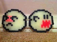 Perler Beads - Glow-in-the-Dark Boo - Scared and Scary by Sophia S.